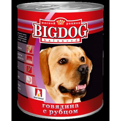 """Зоогурман """"BIG DOG"""" Говядина с рубцом ж/б 850гр"""