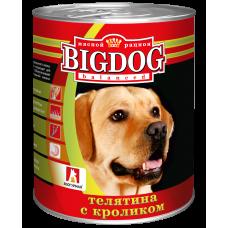 "Зоогурман ""BIG DOG"" Телятина с кроликом ж/б 850гр"