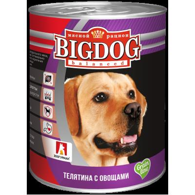 """Зоогурман """"BIG DOG"""" Телятина с овощами ж/б 850гр"""