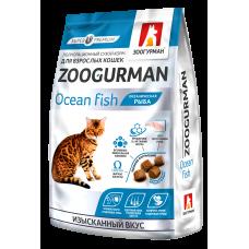 Зоогурман Полнорац. сухой корм д/кошек Zoogurman, Океаническая рыба 350 гр.