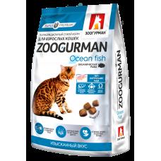 Зоогурман Полнорац. сухой корм д/кошек Zoogurman, Океаническая рыба 1,5 кг