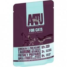 AATU Консервы Паучи для кошек Курица и Фазан (AATU FOR CATS CHICKEN & PHEASANT) WACCP85   AATU FOR CATS CHICKEN & PHEASANT, 0,085 кг