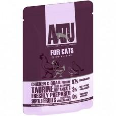 AATU Консервы Паучи для кошек Курица и Перепел (AATU FOR CATS CHICKEN & QUAIL) WACCQ85   AATU FOR CATS CHICKEN & QUAIL, 0,085 кг