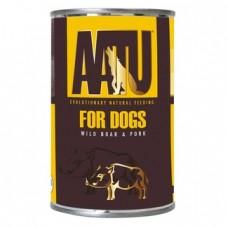 AATU Консервы Консервы для собак Мясо Дикого Кабана и Свинина (AATU WILD BOAR & PORK) WABP400   AATU WILD BOAR & PORK, 0,4 кг