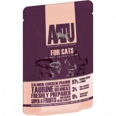 AATU Консервы Паучи для кошек Лосось, Курица, Креветки (AATU FOR CATS SALMON, CHICKEN & PRAWN) WACFC85   AATU FOR CATS SALMON, CHICKEN & PRAWN, 0,085 кг