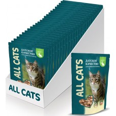 02AL747 ALL CATS ПАУЧ д/кошек Кролик в соусе 85гр*25