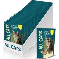 02AL746 ALL CATS ПАУЧ д/кошек Курица в соусе 85гр*25