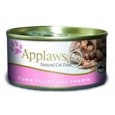 Applaws Консервы (банка) для Кошек с филе Тунца и Креветками (Cat Tuna Fillet & Prawn) 1008CE-A, 0,07 кг