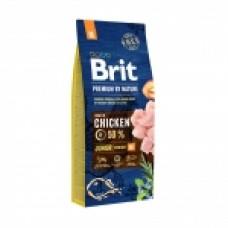 Brit Акция 15+3кг в подарок Сухой корм Premium для щенков и молодых собак средних пород 532223-1, 18 кг