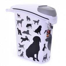 """Curver PetLife Контейнер для корма """"Собаки"""", черно-белый, на 10кг/23л, 23*50*50см (210341), 1,21 кг"""