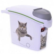 """Curver PetLife Контейнер для корма """"Сладкие котята""""на 6кг/15л, 23*50*36см (201782/241105), 1,035 кг"""