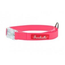 Ferribiella аксессуары Cветящийся тонкий силиконовый ошейник, розовый 2X30-50 см (COLLARE FUN FLAT 2X30-50CM ROSA) HI726-RA | COLLARE FUN FLAT 2X30-50CM ROSA, 0,3 кг