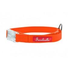 Ferribiella аксессуары Cветящийся тонкий силиконовый ошейник, оранжевый 2X30-50 см (COLLARE FUN FLAT 2X30-50CM ARANCIONE) HI726-AR | COLLARE FUN FLAT 2X30-50CM ARANCIONE, 0,3 кг