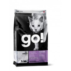 GO! Беззерновой для Котят и Кошек - 4 вида Мяса: Курица, Индейка, Утка и Лосось (GO! CARNIVORE GF Chicken, Turkey + Duck Recipe CF46/18) 46/18, 1,36 кг