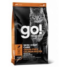 GO! Беззерновой для Котят и Кошек с Лососем (GO! SKIN + COAT Grain Free Salmon Recipe CF 30/14) 30/14, 1,36 кг