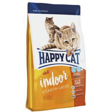 Happy Cat Эдалт ИНДОР (атлант. лосось) ФитВелл - 4 кг