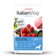 Italian Way Безглютеновый корм для собак малых пород с чувствительной кожей, лосось и сельдь (ITALIAN WAY MINI HYPO SALMON/HERRINGS) DITWA08060, 1,5 кг