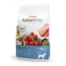 Italian Way Безглютеновый корм для собак крупных пород с чувствительной кожей, лосось и сельдь (ITALIAN WAY MAXI HYPO SALMON/HERRINGS) DITWA20120, 12 кг