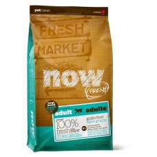 NOW FRESH Беззерновой для Взрослых собак Крупных пород с Индейкой, Уткой и овощами (Fresh Adult Large Breed Recipe Grain Free 27/13), 11,34 кг