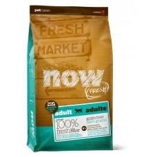 NOW FRESH Беззерновой для Взрослых собак Крупных пород с Индейкой, Уткой и овощами (Fresh Adult Large Breed Recipe Grain Free 27/13), 5,44 кг
